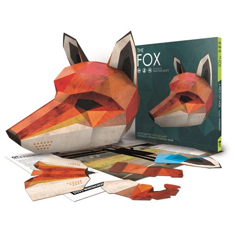 Origami Fox Mask - wintercroft fox mask book free digital mask