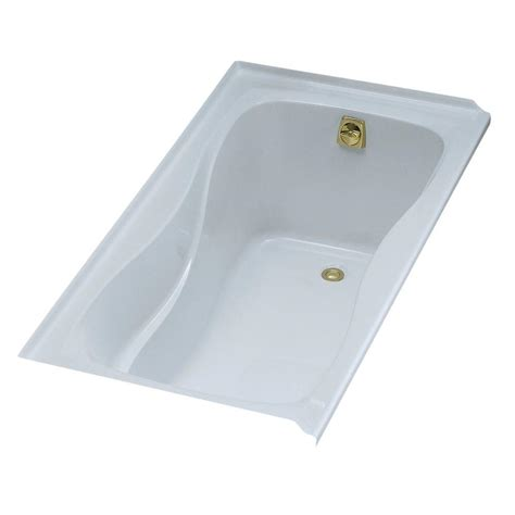 bathtub right hand drain kohler hourglass 5 ft alcove bath with right hand drain