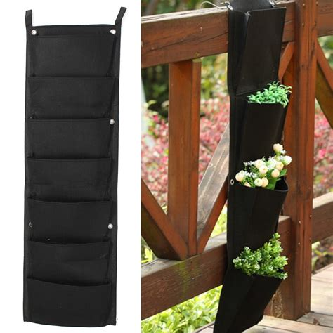 Hanging Bag Planters by 7 Pockets Indoor Outdoor Wall Balcony Herbs Vertical