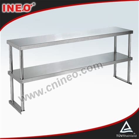 commercial restaurant table top stainless steel shelving
