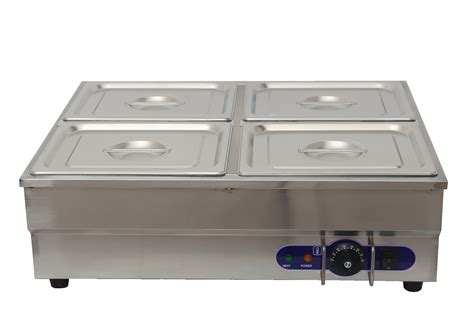 4 pan counter top warmer bain buffet steam table