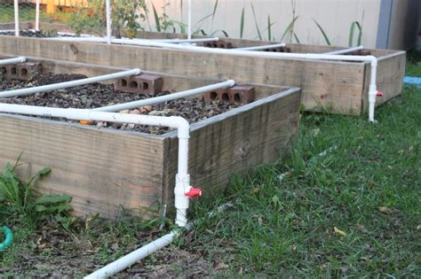 raised bed irrigation raised beds garden pinterest