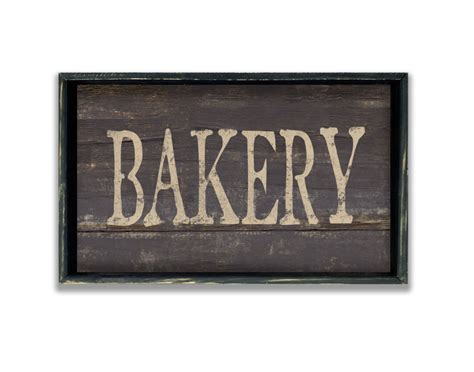 Handmade Signs Wood - wooden handmade bakery sign framed in wood business signs