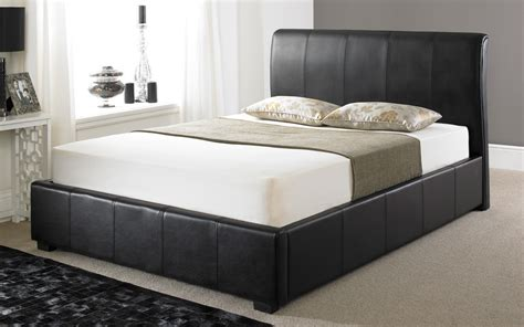 Black Ottoman Bed black leather ottoman bed shop for cheap beds and save