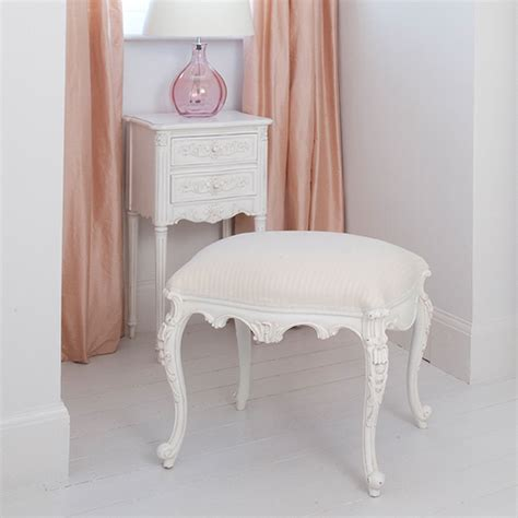 provencal white dressing stool bedroom company