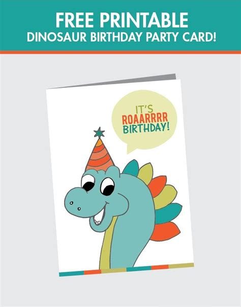 Printable Birthday Cards Dinosaur Free | free printable dinosaur birthday card spaceships and