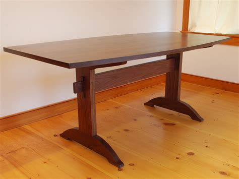 Handmade Trestle Tables - handmade trestle dining table chrisrickettsmusic