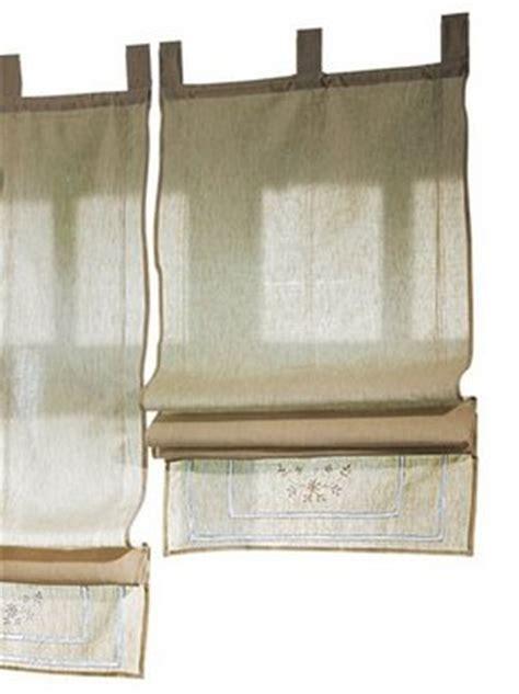 leinenvorhänge blickdicht 1 st raffrollo 100 x 140 natur beige schlaufen leinen
