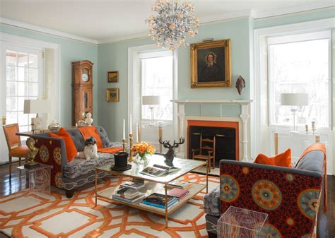 Orange Rug Living Room by Bright Colored Living Rooms With Orange Living Room Area