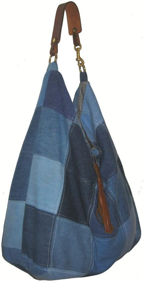 Denim Patchwork Bag - sew a patchwork denim purse bag denim design 2 die 4
