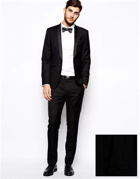 asos slim fit tuxedo suit jacket in 100 wool 2175454