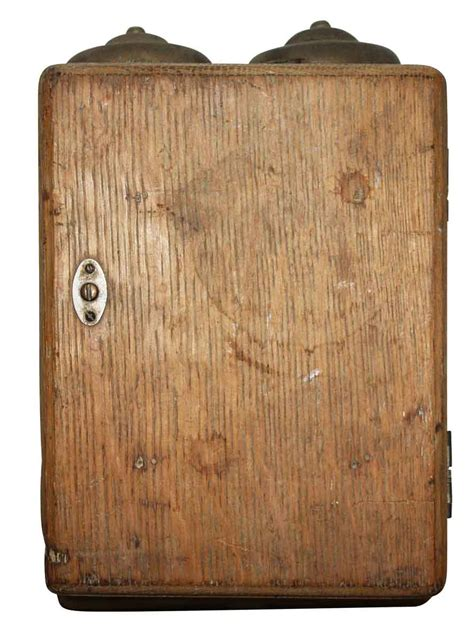 electric door bell antique nouveau pushbutton wooden
