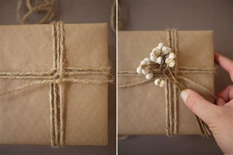 twine for gift wrapping diy gift wrap