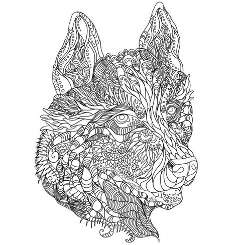 wolf mandala coloring pages 61 best images about loups on wolves mandala