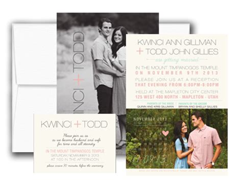 Wedding Announcements Utah by Utah Wedding Invitations Utah Wedding Announcements