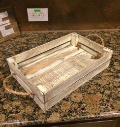 distressed white decorative tray rustic tray by purehomeworks rustic tray reclaimed wood tray decorative tray by