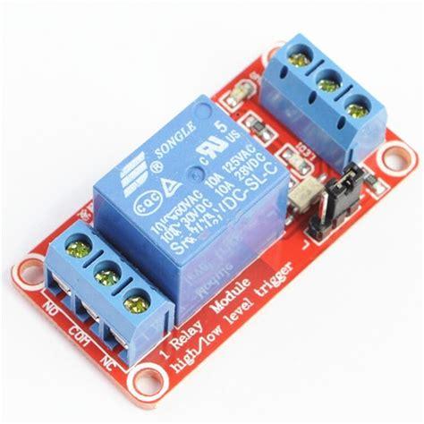 Relay Module Dc 5v 1 Channel High Trigger dc 5v 9v 12v 24v 1 channel optocoupler relay module support high and low trigger ebay