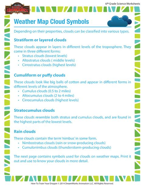 Map Symbols Worksheet by Weather Symbols Worksheets Free Search Results