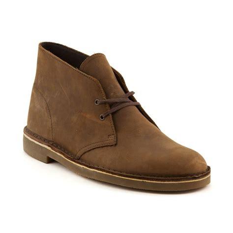 mens clarks bushacre casual shoe brown