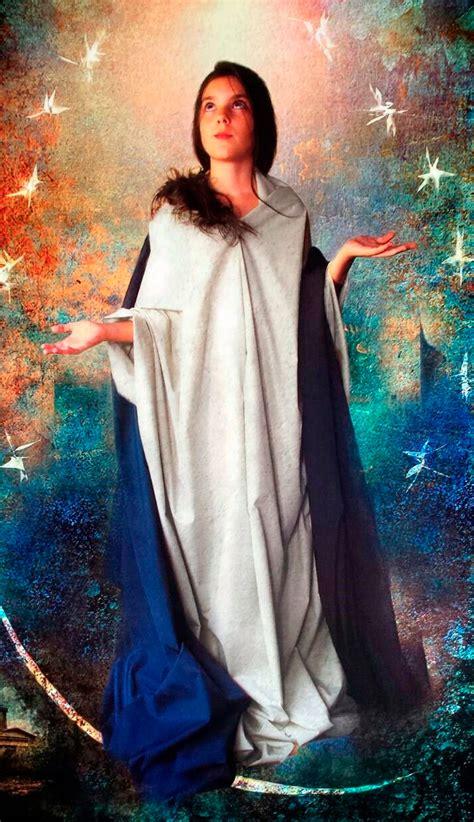 imagenes de la virgen maria de joven sorprendente pintura digital de la inmaculada obra de una