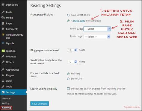 membuat web satu halaman tutorial membuat website dengan wordpress terlengkap