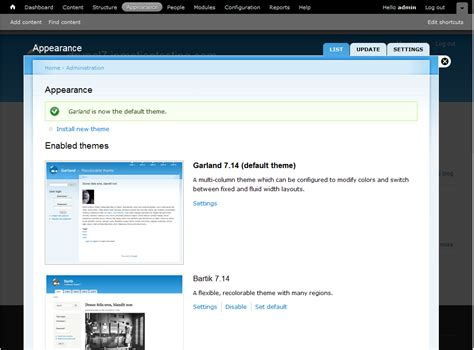 drupal themes modify how to change default themes in drupal 7 inmotion hosting
