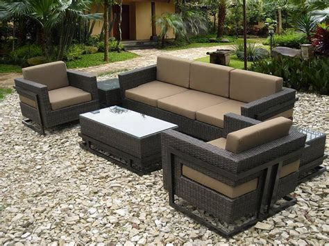 Rattan Patio Furniture Set Resin Wicker Outdoor Furniture