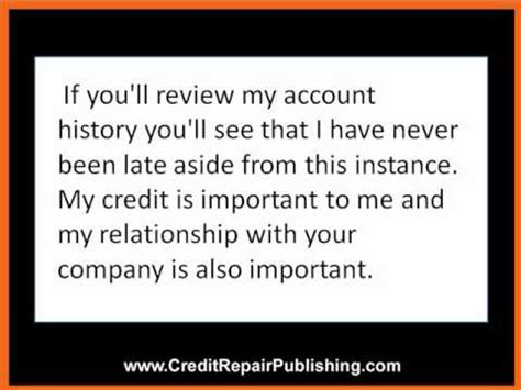 How To Remove Late Payments From Credit Report Sle Letter