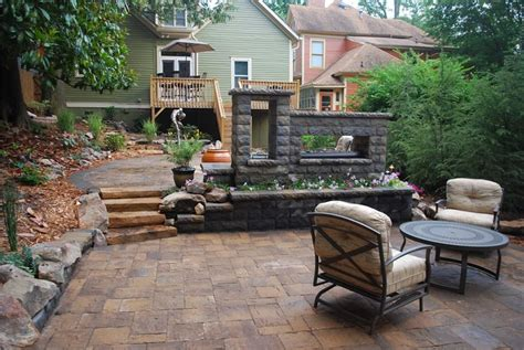 outdoor fireplace hoschton ga photo gallery landscaping network