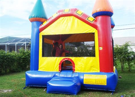 Jumpy Houses by Multi Colored Castle Bounce House Sky High Rentals