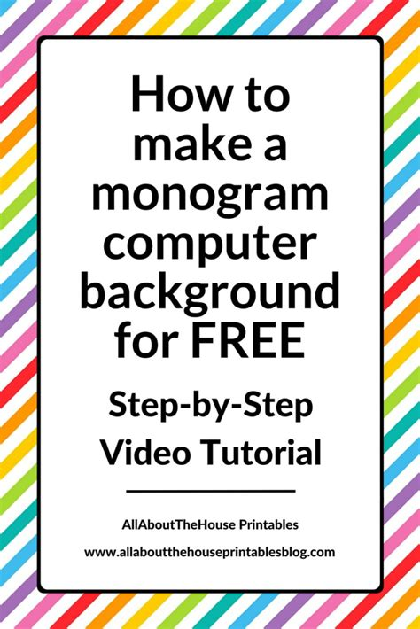 how to make totally free pc to phone calls surefire on how to make a monogram computer wallpaper for free using