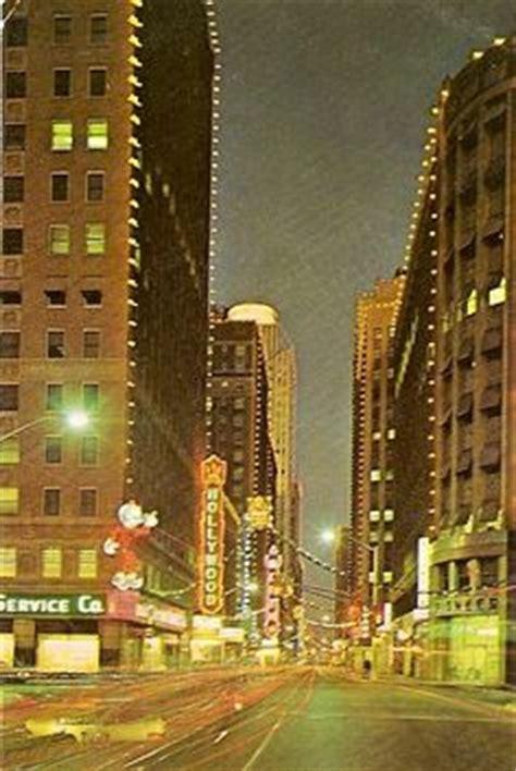city of fort worth street lights fort worth texas tx houston street at dusk 1962 vintage