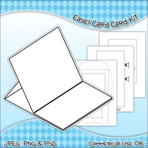 easel card template easel card envelope template commercial use ok 163 3 00