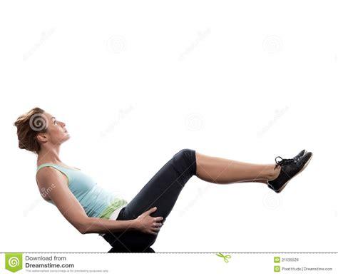 boat pose workout woman paripurna navasana boat pose yoga posture stock