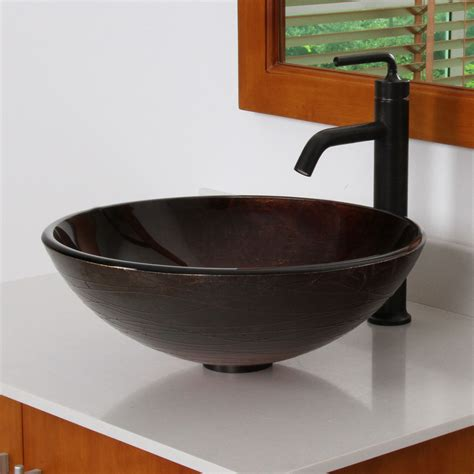 1312 elite modern design tempered glass bathroom vessel