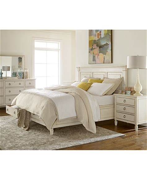 Sag Harbor White Storage Bedroom Furniture Collection Macys Bedroom Set