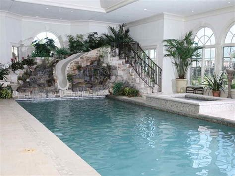 planning ideas cost to build an indoor pool with slide