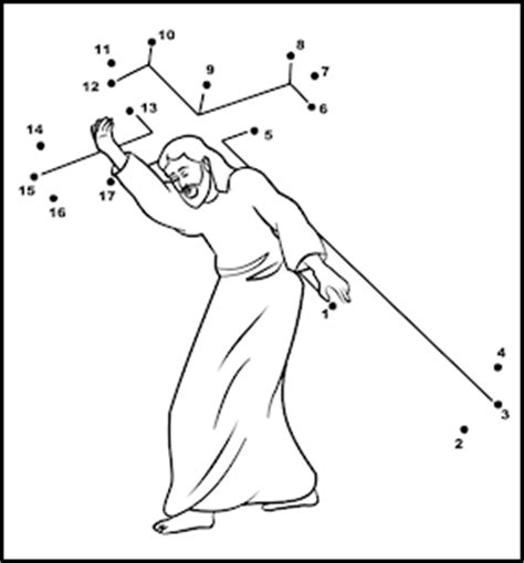 coloring pages of jesus carrying the cross jesus carrying the cross coloring page activity
