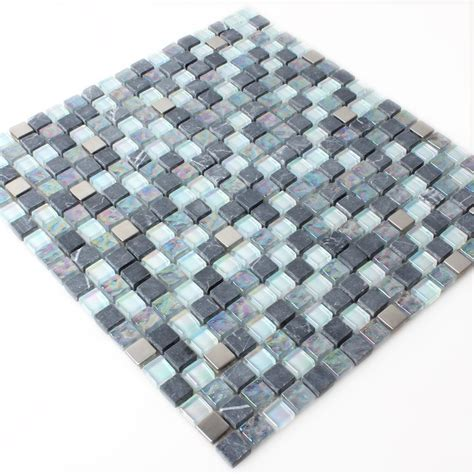 glas marmor perlmutt effekt mosaik fliese grau mix tm33219m