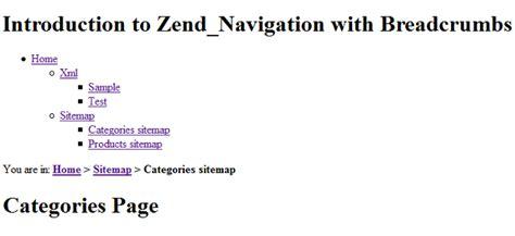 zend layout getview zend framework navigation with breadcrumbs inchoo