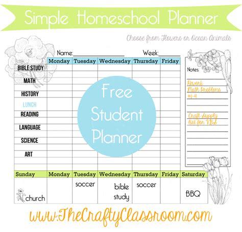 weekly homeschool calendar