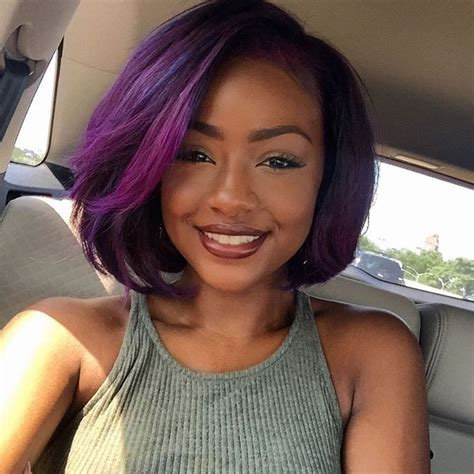purple hair styles for black hair 24 best purple hairstyles images on pinterest violet