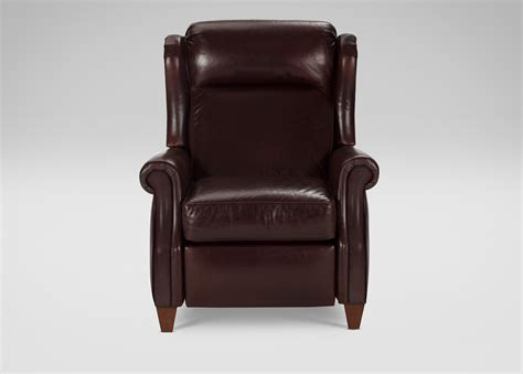 ethan allen leather recliner graham leather recliner ethan allen
