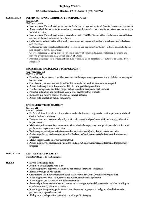 ray technician resume format resume templates