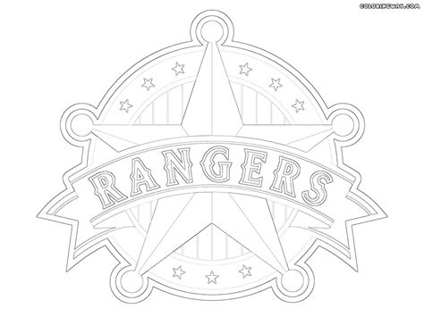texas rangers logo coloring pages sketch coloring page