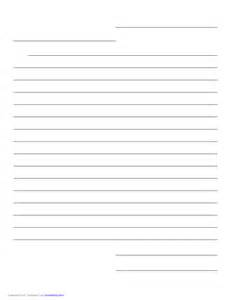 Letter Paper Template by Friendly Letter Paper Template Free