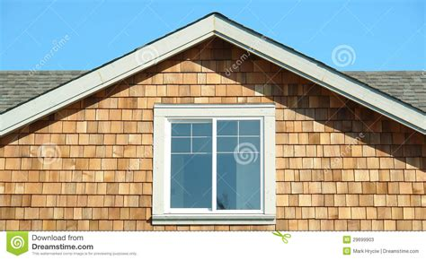 cedar siding house pictures house cedar siding end gable section stock photos image 29699903