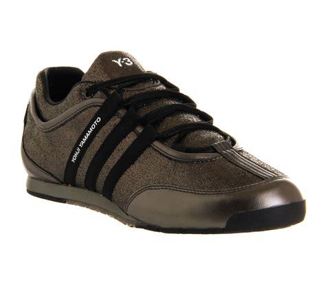 adidas y3 adidas y3 boxing low gunmetal black his trainers