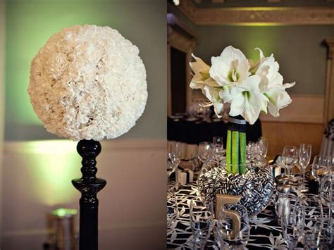 black and white centerpieces black and white ideas pinterest wedding centerpieces and