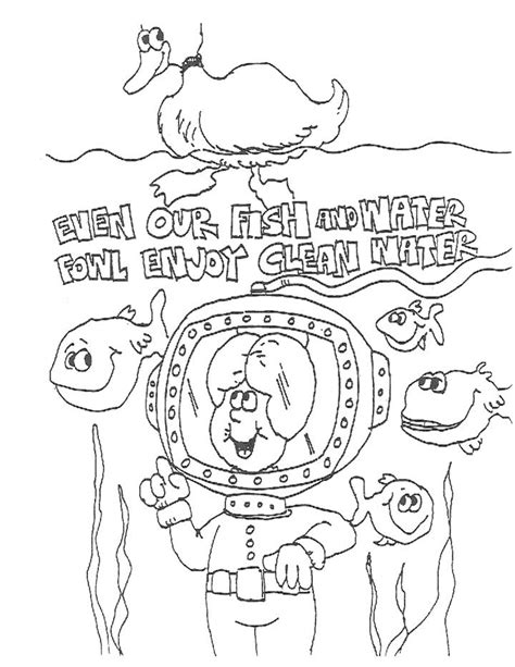 Coloring Page Water by Free Coloring Pages Of Save The Water